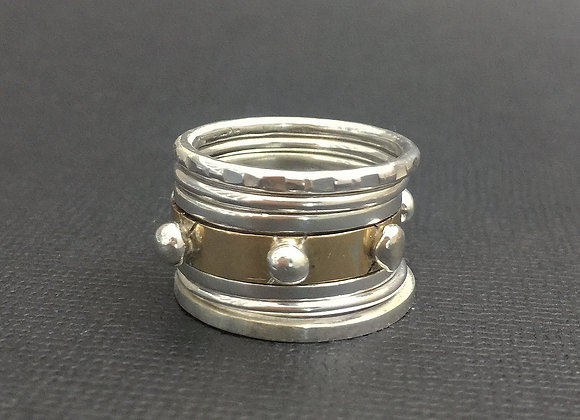 'Balancing Rocks' 5 stacker ring set