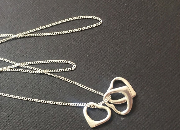 Sterling Silver hearts on chain