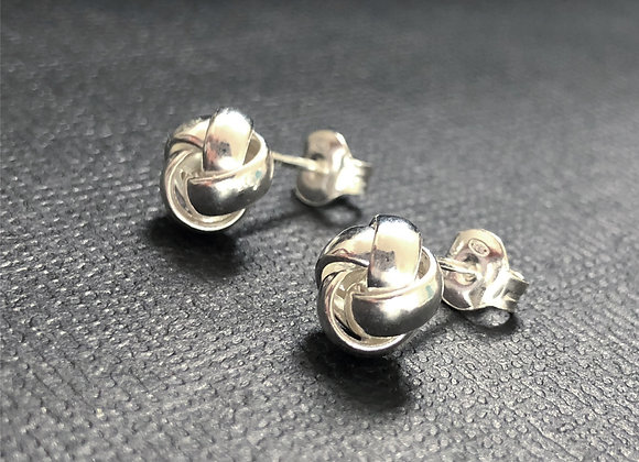 Small knot Sterling Silver Studs