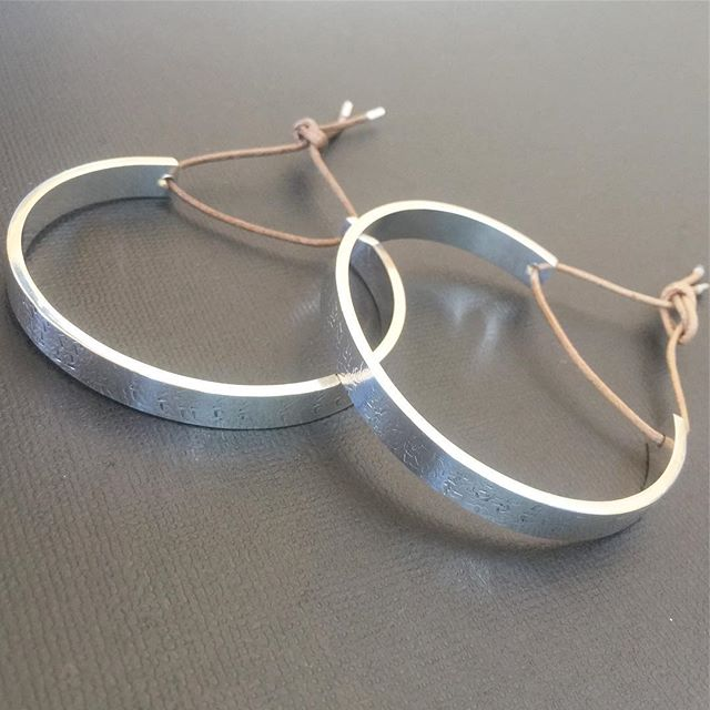 Custom Sterling Silver Cuffs