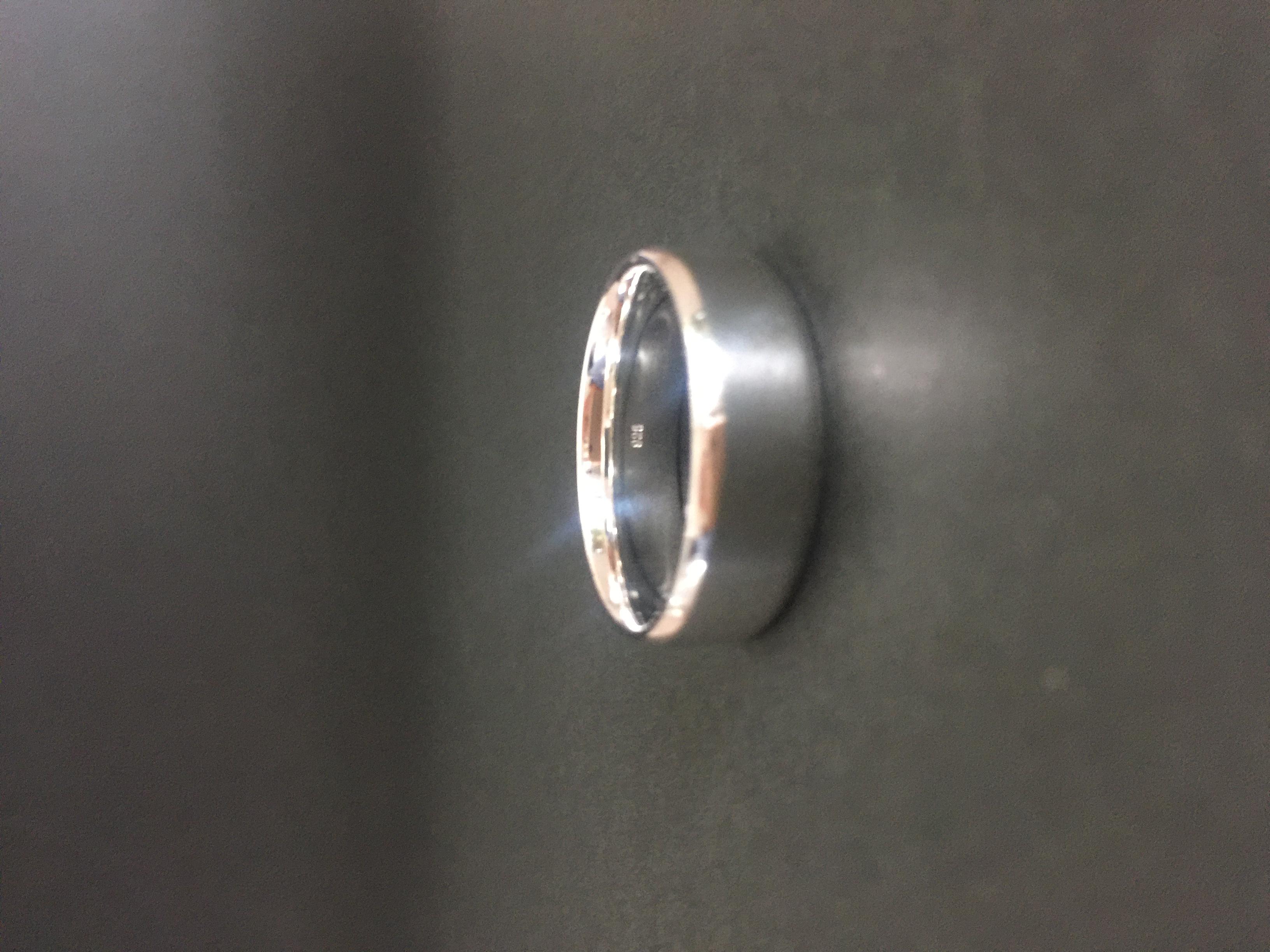 Argentium Silver Bevelled Wedder