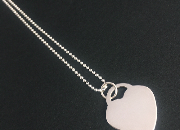 Sterling Silver Heart on ball chain