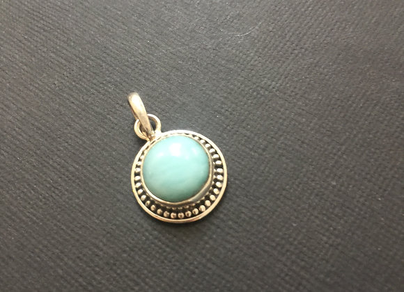 Larimar & Sterling Silver Pendant - ONE ONLY