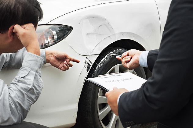 senior man and insurance agent claim pro