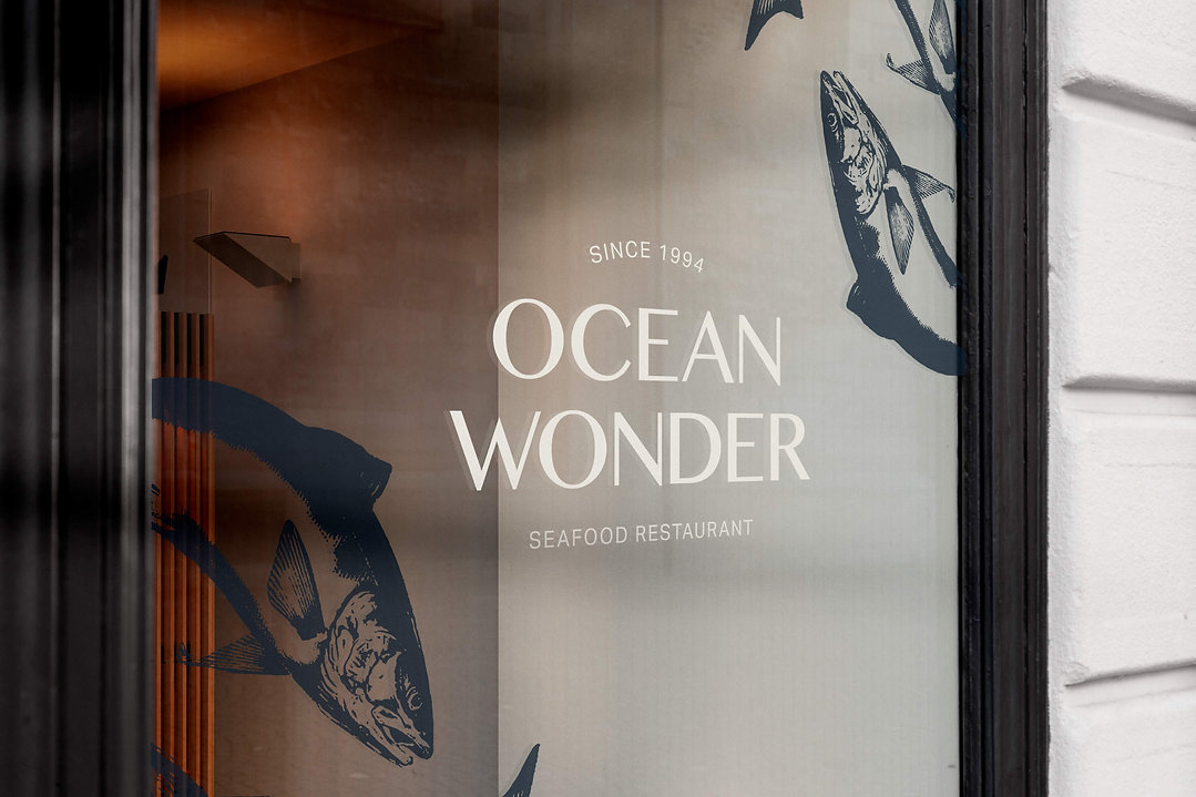 Window Sign Ocean Wonder Design Fish