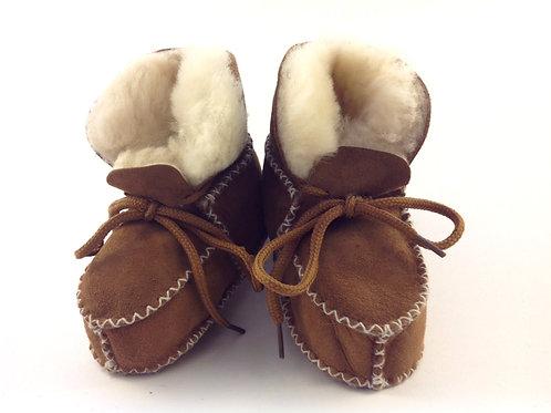Baby Tie-On Sheepskin Bootie