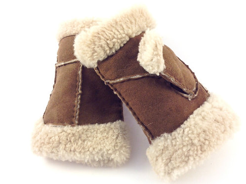 Fingerless Sheepskin Mittens