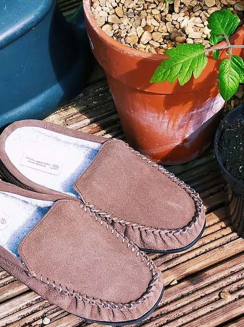 Wool Lined Slipper Loafers