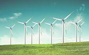 Windmolens op groen gebied