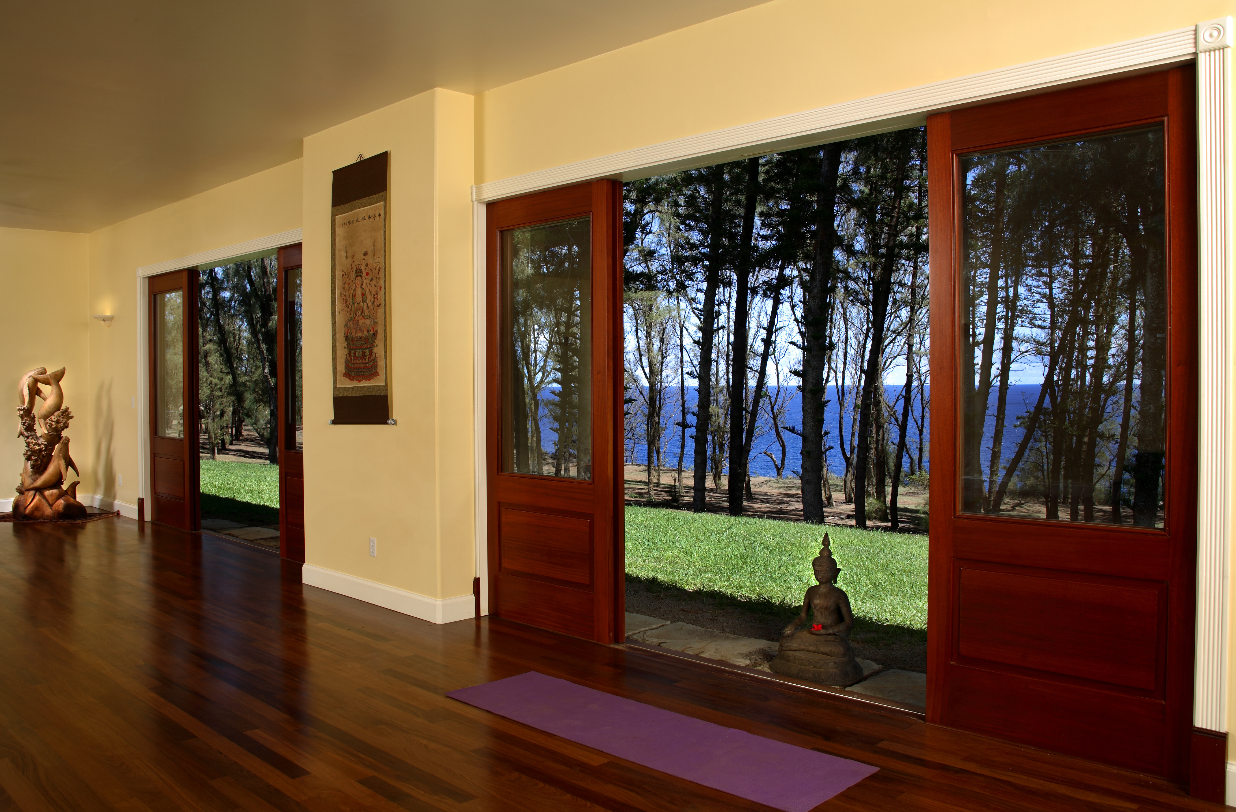 yoga room, oceanfront