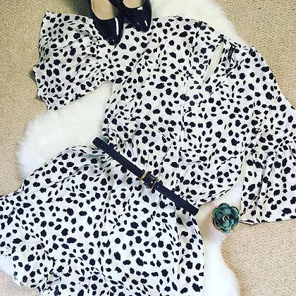 Dalmation Print Playsuit