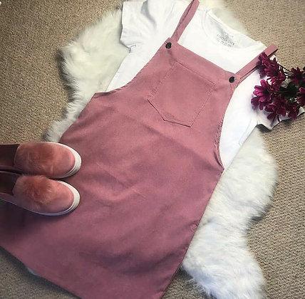 Pink Pinafore Dress