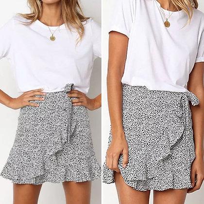 Ruffled Frill Spot Skirt