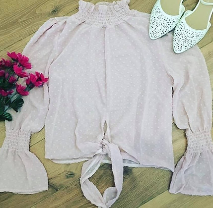 Pink Sheer Blouse Top