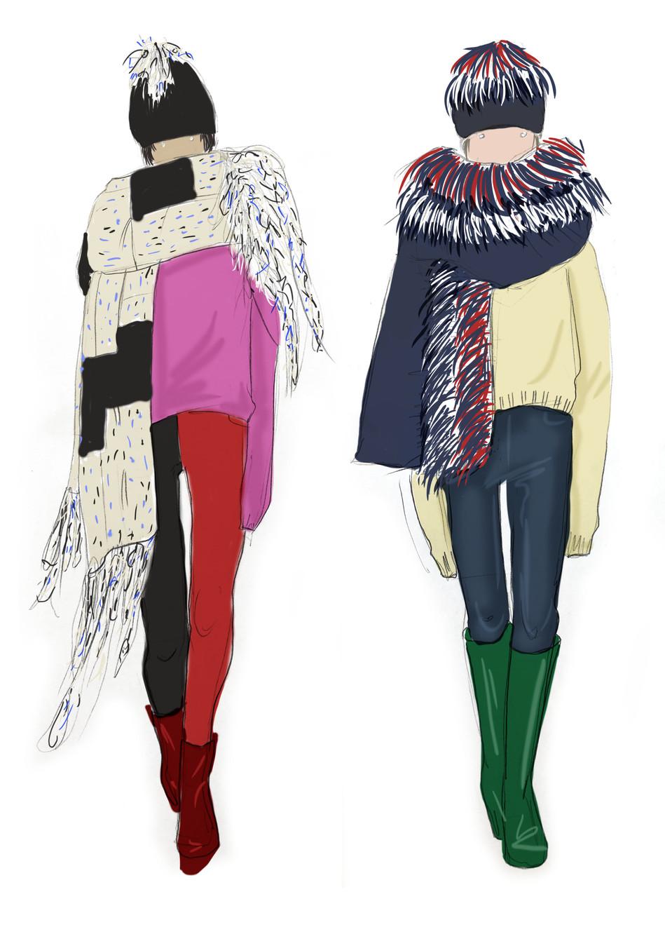 scarves illustrations
