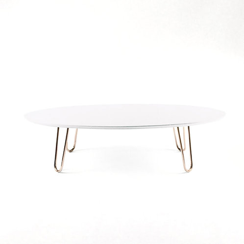 Mid-century coffee table with copper legs