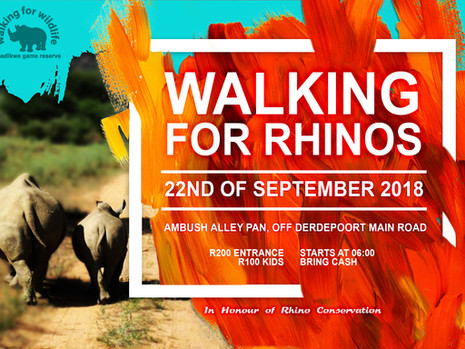 Walking For Rhinos
