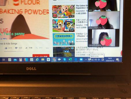 小学生と中学生のオンライン指導
