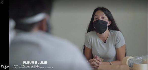 Fleur Blume sur Vice Tv dans la série documentaire Voyous