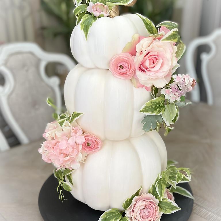 Pumpkin Topiary Cake Class