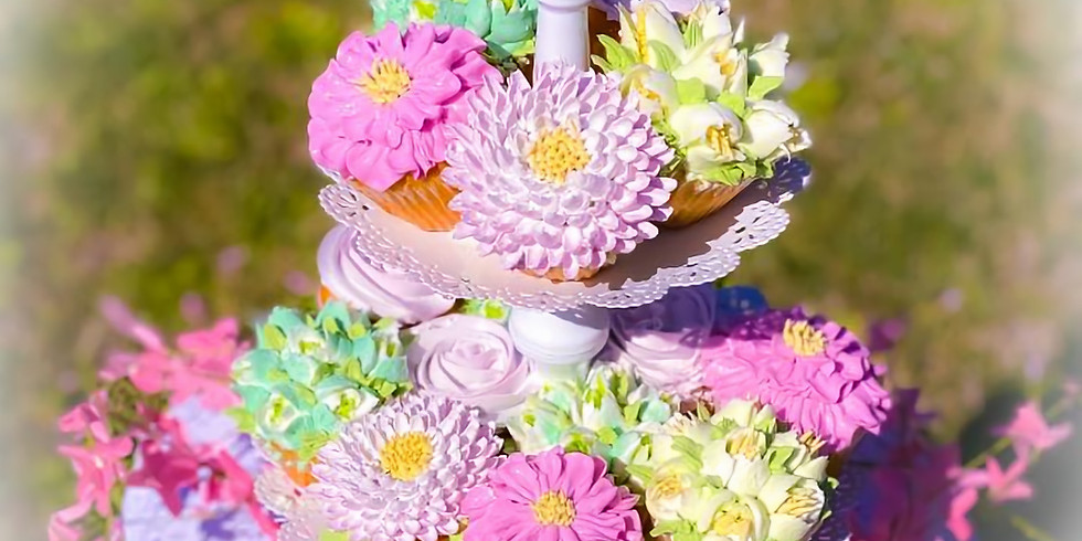 Spring Cup Cake Bouquet Class
