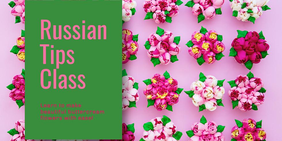 Russian Tips Buttercream Class
