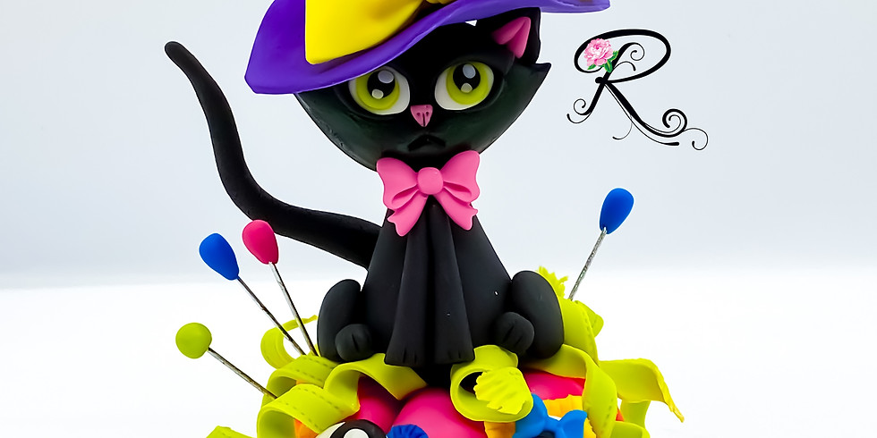 Ms. Stitches and Cleo Fondant Cake Topper