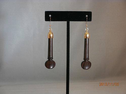 Rosewood Peg Earrings