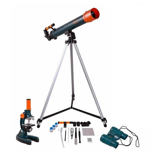 Levenhuk set: Microscop, Telescop și Binoclu