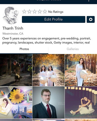 Profile on Momint.  #thanhtrinhphotograp