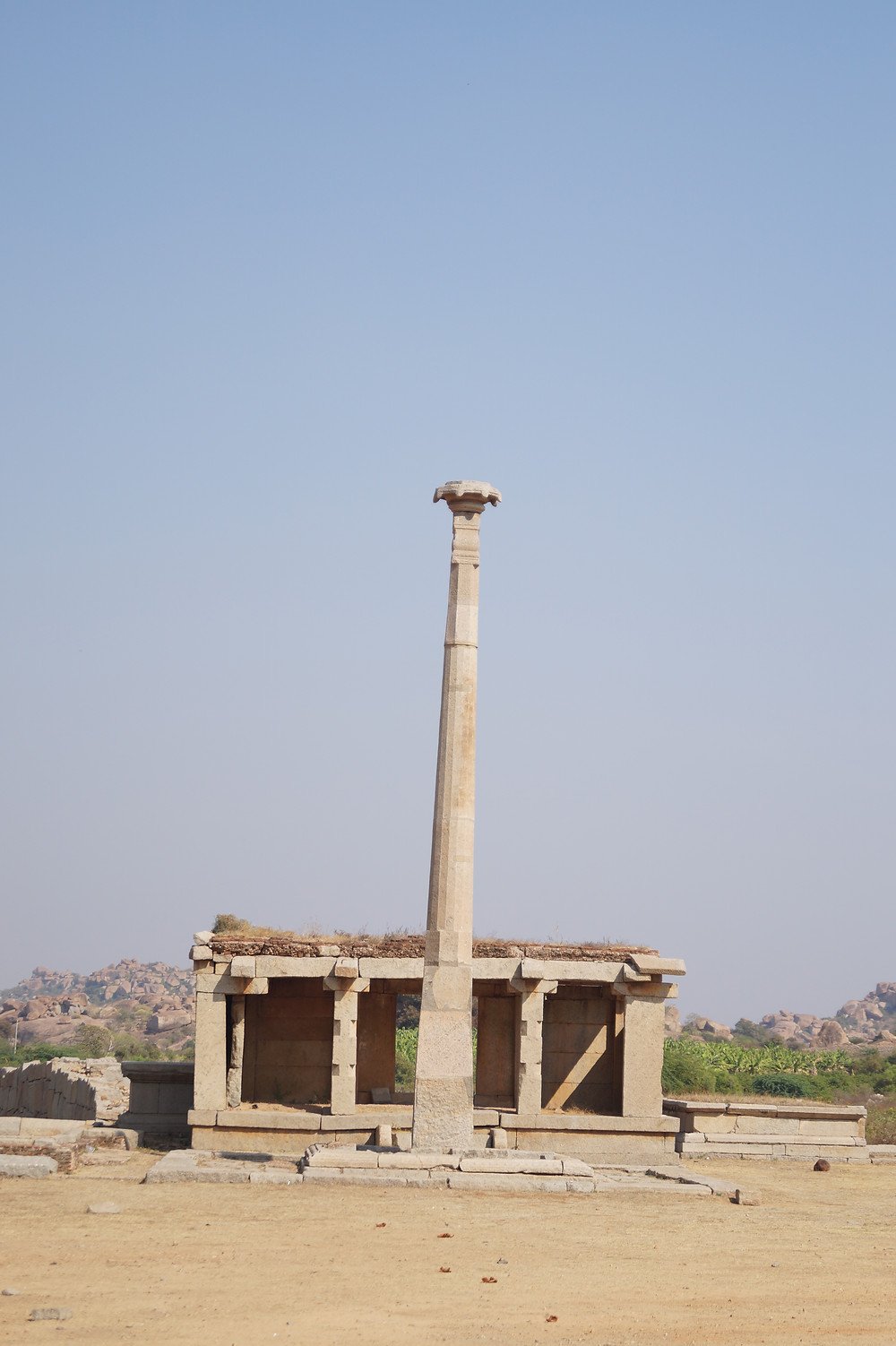 Pillar outside of Temple
