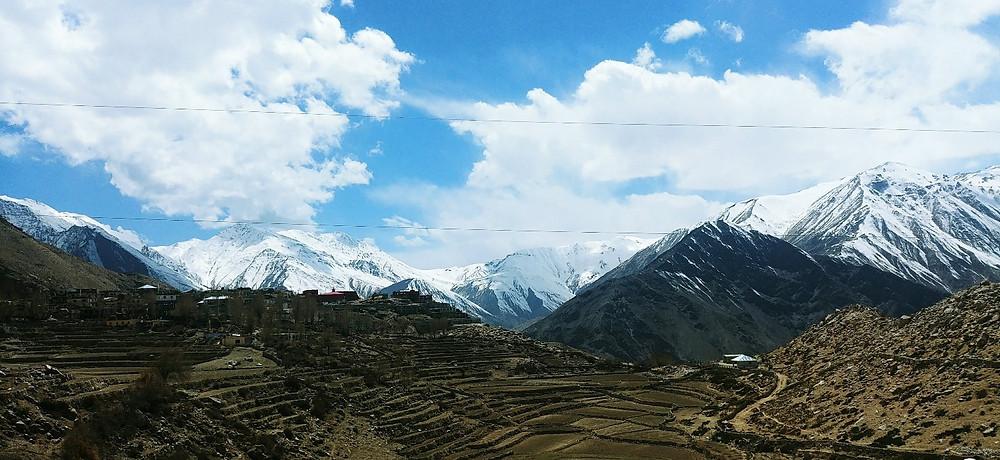 Beautiful Nako Village and Himalayas