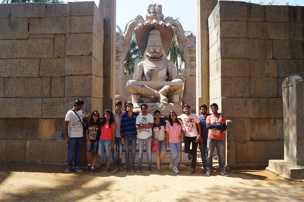 Team of Eleven people on trip of Hampi