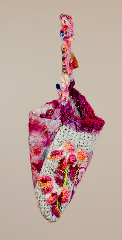 Wet Felted & Crocheted Purse