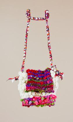 Hand Spun & Knitted Purse
