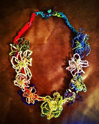 #511 Summer Fun Textile Necklace