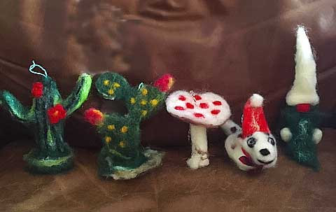 #445B Needle Felted Ornaments 2
