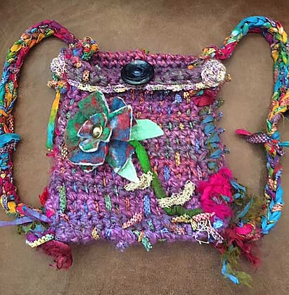 #438 Small Crocheted Backpack