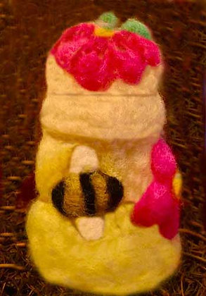 Small Needle Felted Beehive