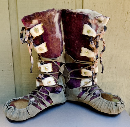 Wet Felted Boots