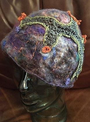 #512 Felted Hat Flower Energy