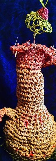 # 506 Crocheted Raffia Vessel.JPG