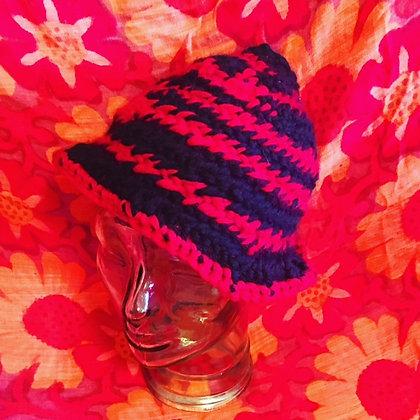 #497 Red Berry Bush Nalbinding Cap