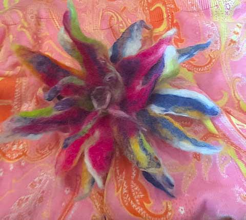 16-Petal--Felted-Flower