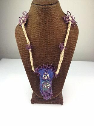 #348 Habu Textile Felted Pendant