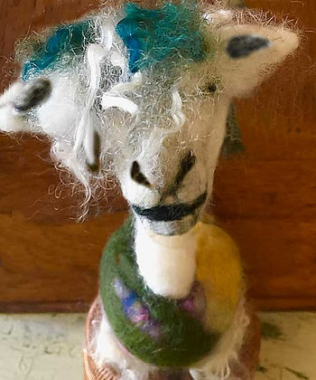 #491 Needle Felted Alpaca Pincushion