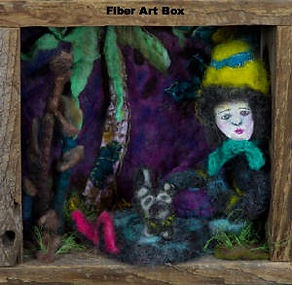 art box wood needle felting wool silk acrylic