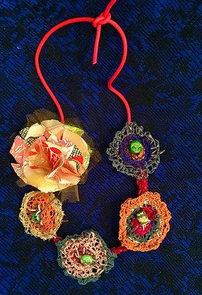 #509 Summertime Fun Textile Necklace