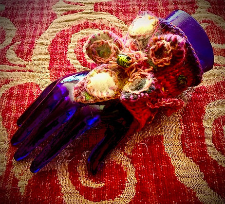 #478 Boho Cuff With Large Flower