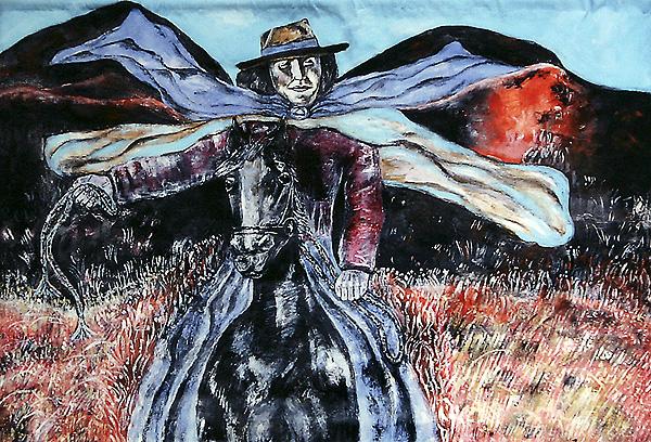 Peruvian Woman On Horse